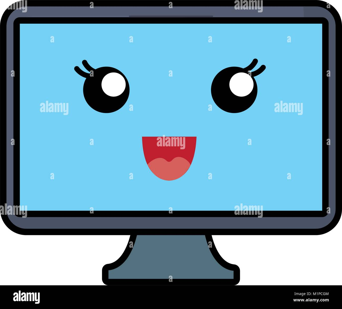 computer monitor icon - Stock Image