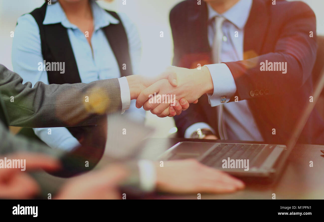 Business handshake. - Stock Image