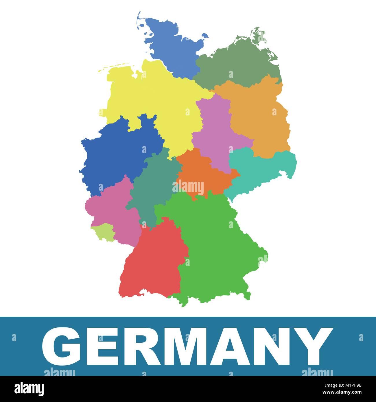 German States Europe Map Stock Photos German States Europe Map