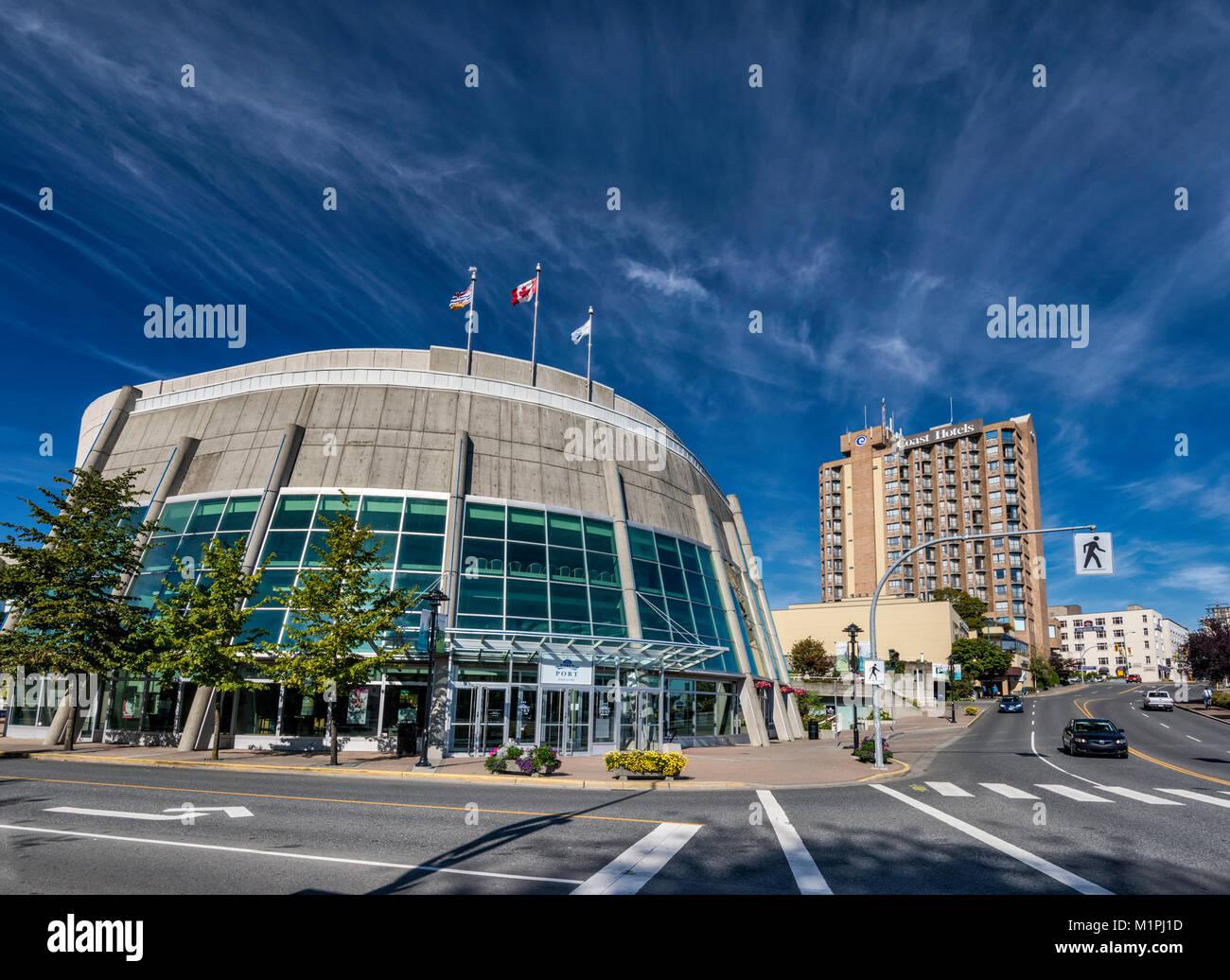 The Port Theatre at Arts District, Nanaimo, Vancouver Island, British Columbia, Canada - Stock Image