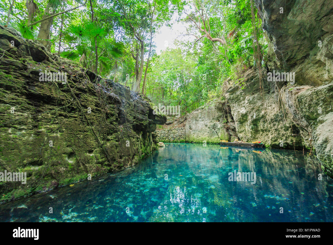 Blue River In Xcaret Mexico