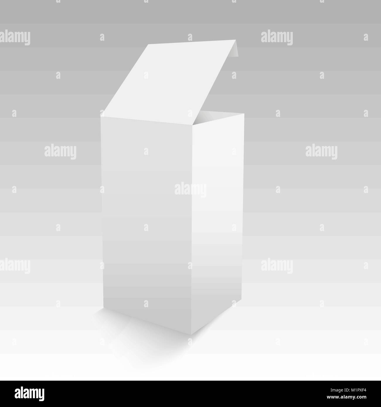 blank of opened paper or cardboard box template vector illustration