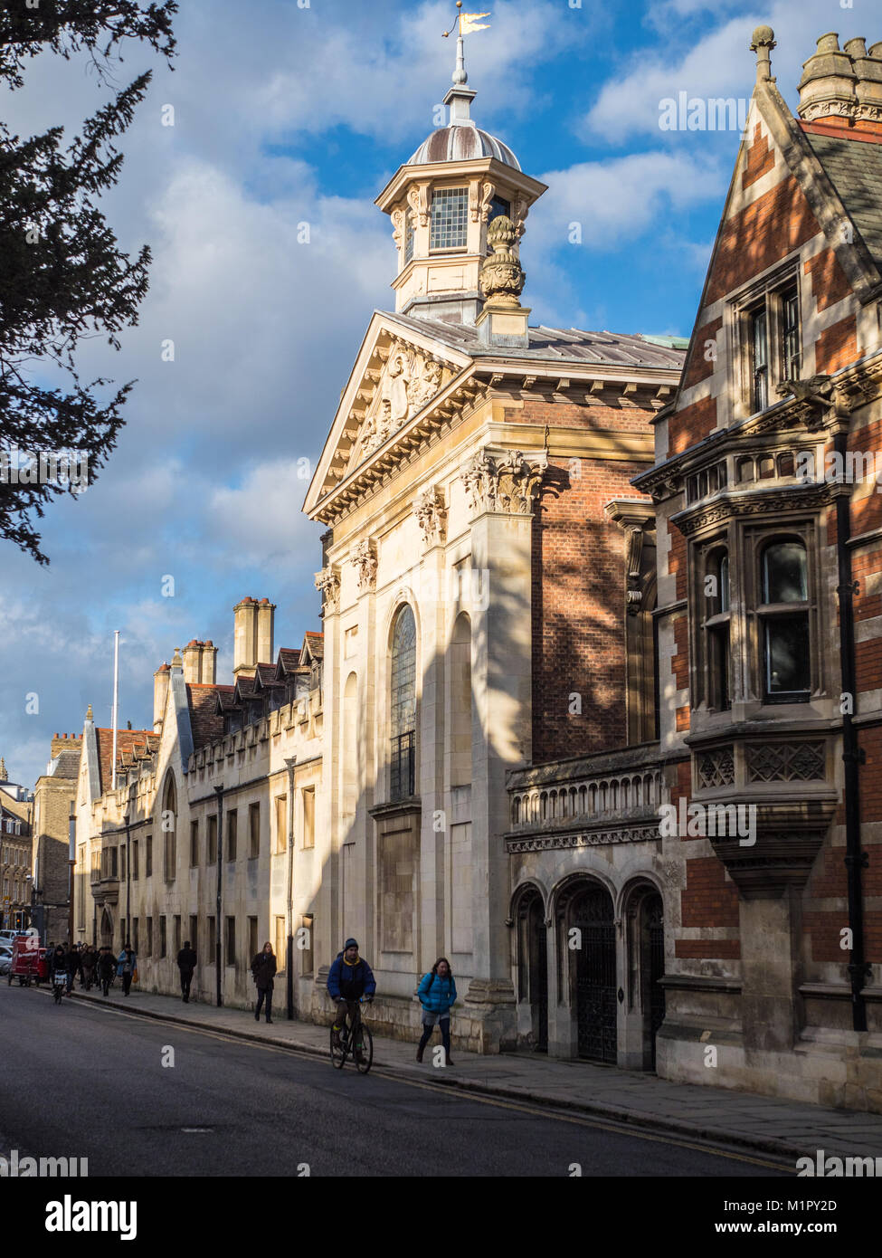 Pembroke College, University of Cambridge - Exterior of Pembroke College, founded in 1347, in central Cambridge - Stock Image