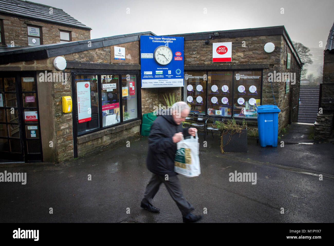 The Upper Wensleydale Community Office in Hawes in the Richmondshire district of North Yorkshire, England Stock Photo