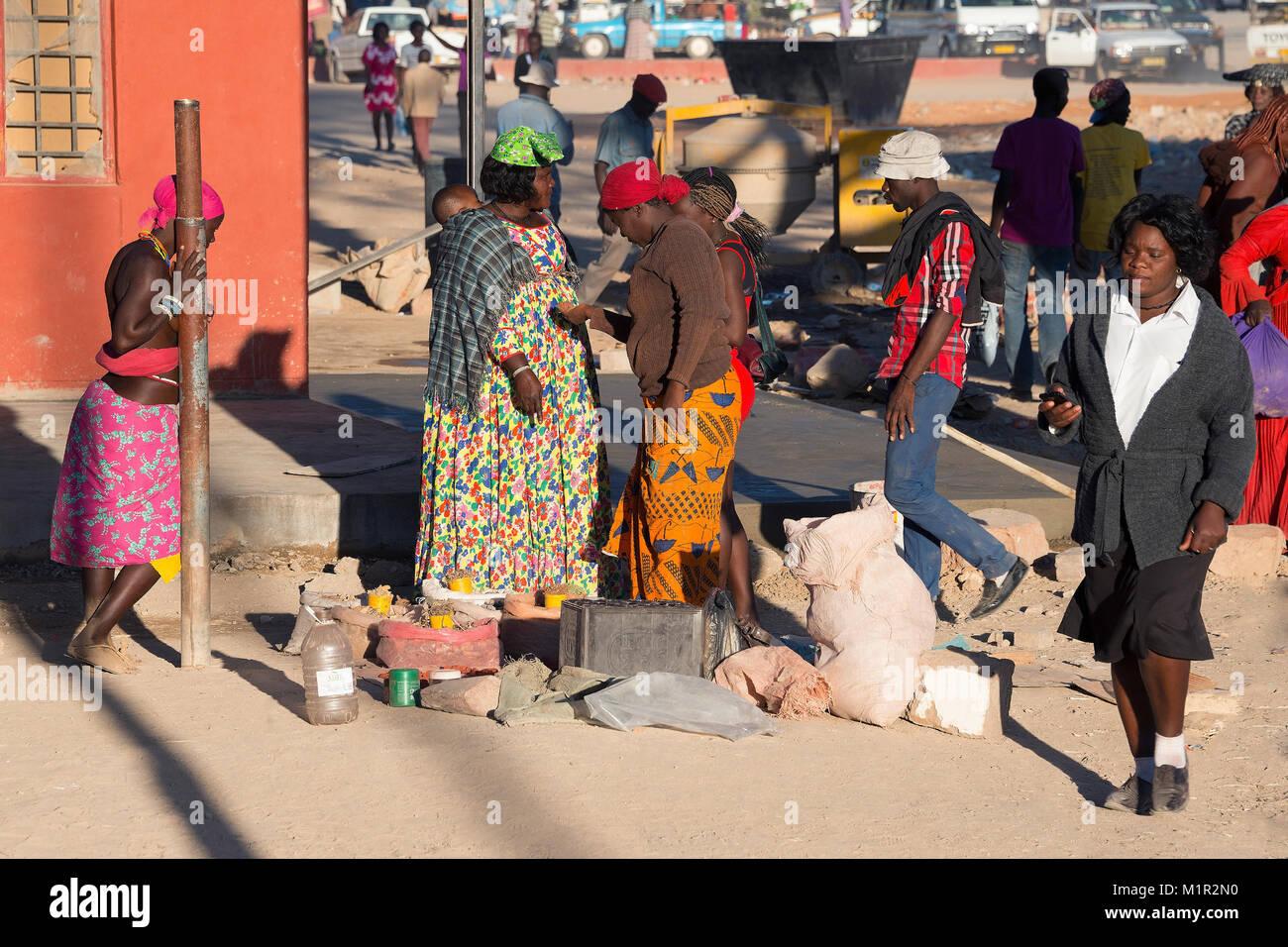 People, Opuwo, Namibia, Menschen - Stock Image