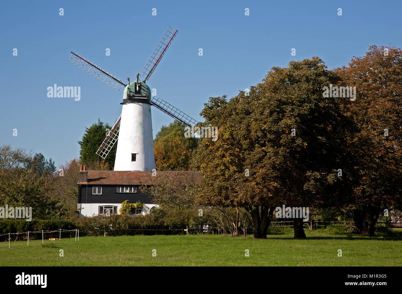 Hawridge Windmill, also known as Cholesbury Windmill, is a disused tower mill in Hawridge, Buckinghamshire, England. - Stock Image
