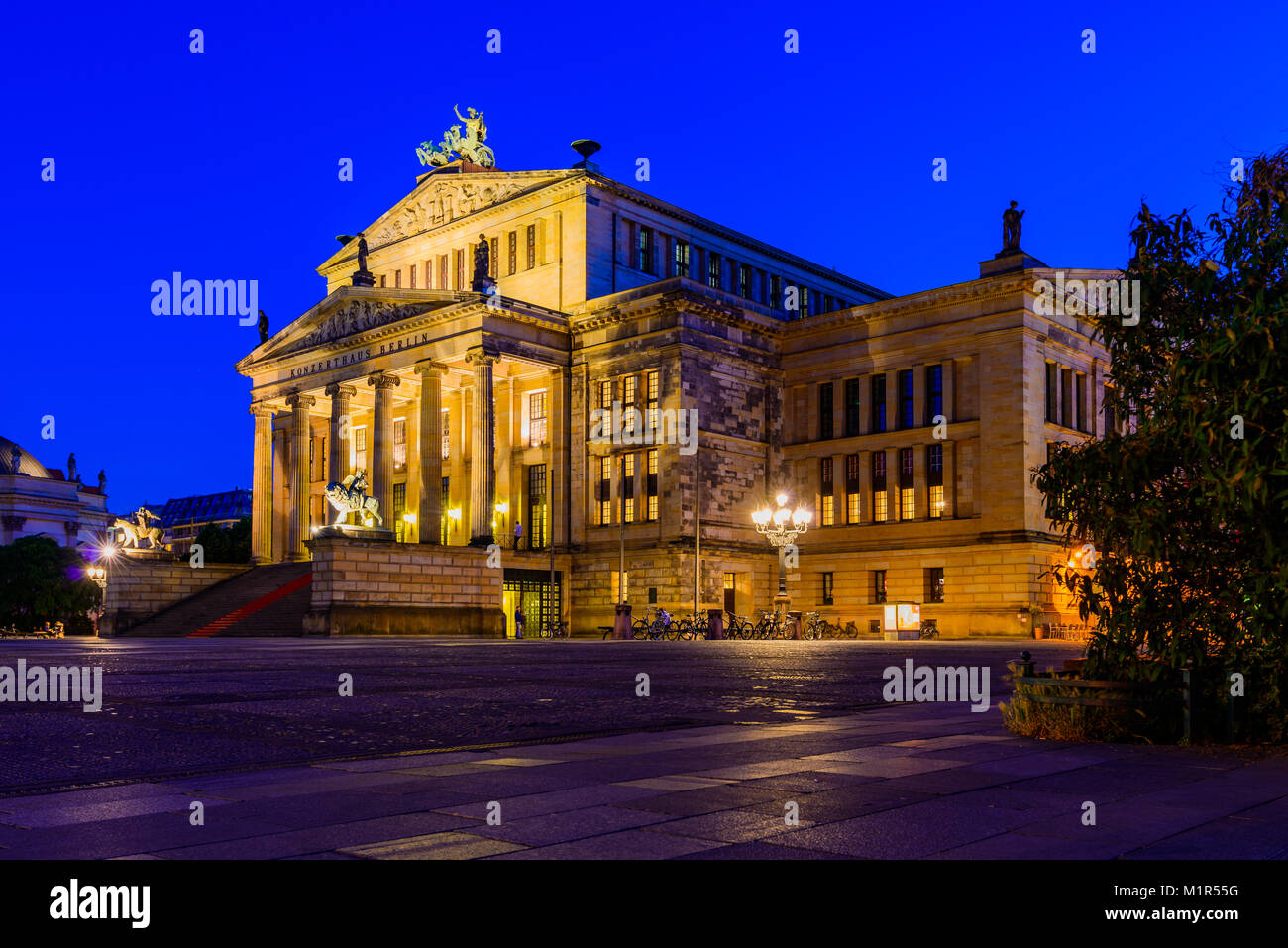 The Konzerthaus in Berlin, Germany, at night Stock Photo