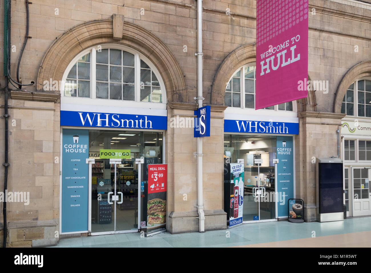 The WH Smith shop in Hull Paragon Interchange - Stock Image