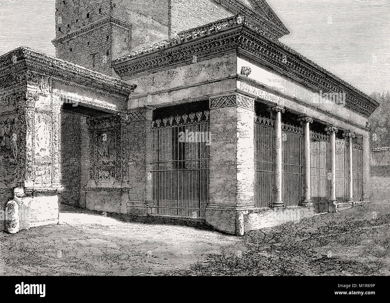 Arcus Argentariorum, San Giorgio, Velabro, Rome, Italy, 19th Century Stock Photo