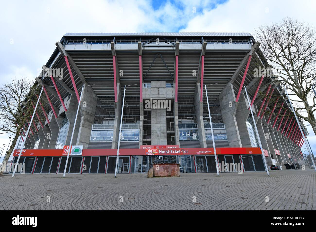 Kaiserslautern, Germany. 1st Feb, 2018. View of the memorial for the five Kaiserslautern players who partook in - Stock Image