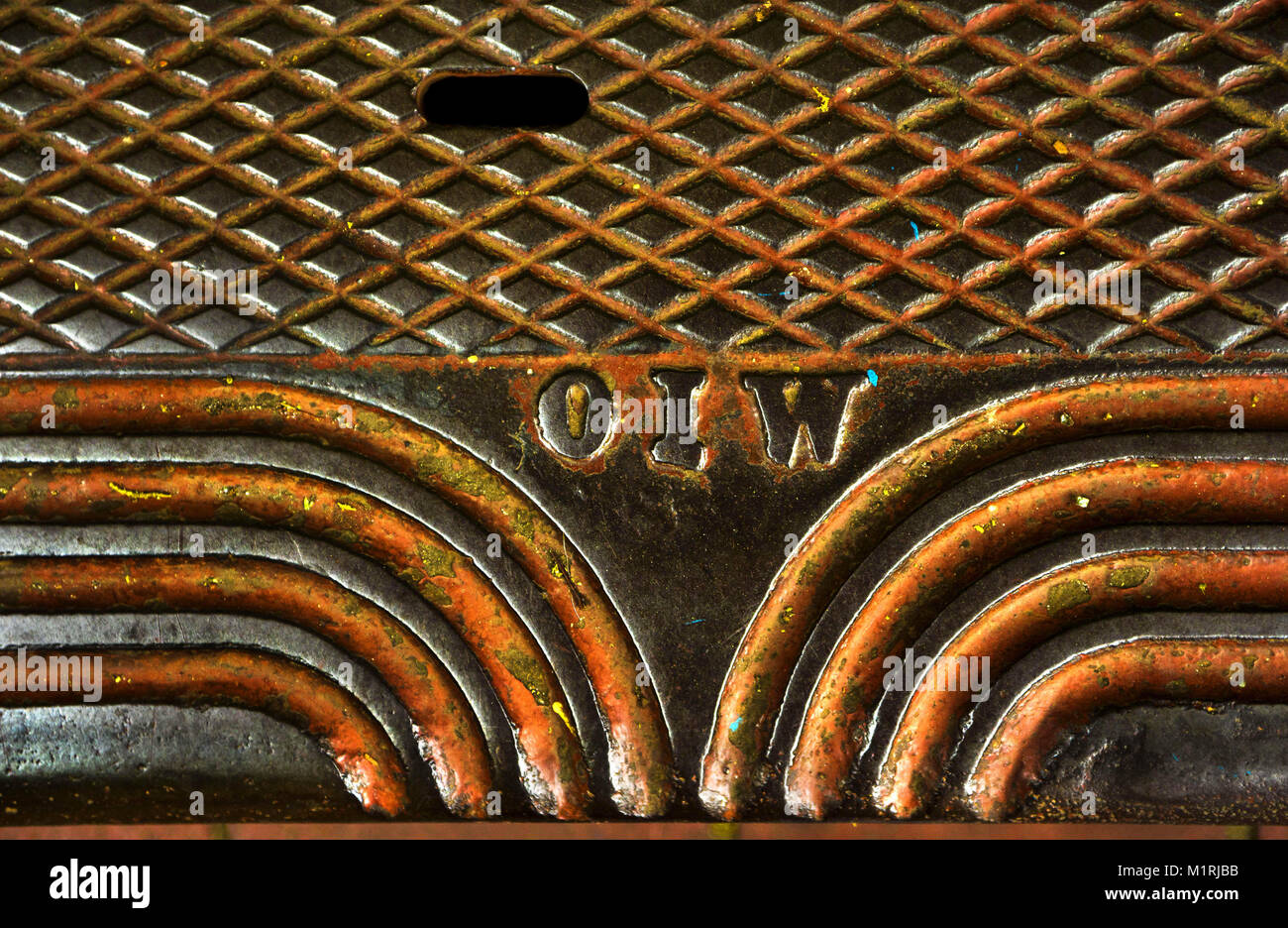 A decorative metal plate covers one of many water valves on the streets in Portland Oregon. Credit L.E. Baskow/ZUMA Wire/Alamy Live News  sc 1 st  Alamy & Portland Oregon USA. 14th May 2016. A decorative metal plate ...
