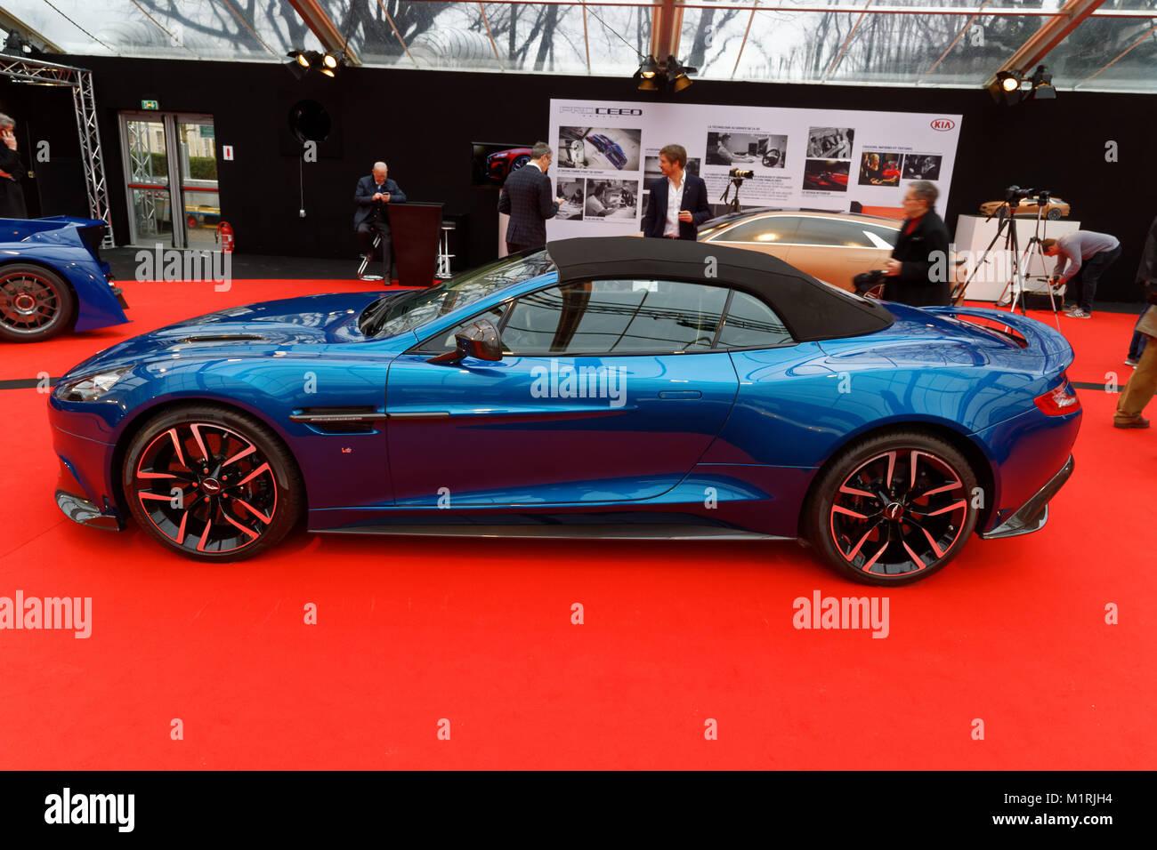 Paris, France. 31st January, 2018. ASTON MARTIN VANQUISH S - The International Automobile Festival brings together - Stock Image