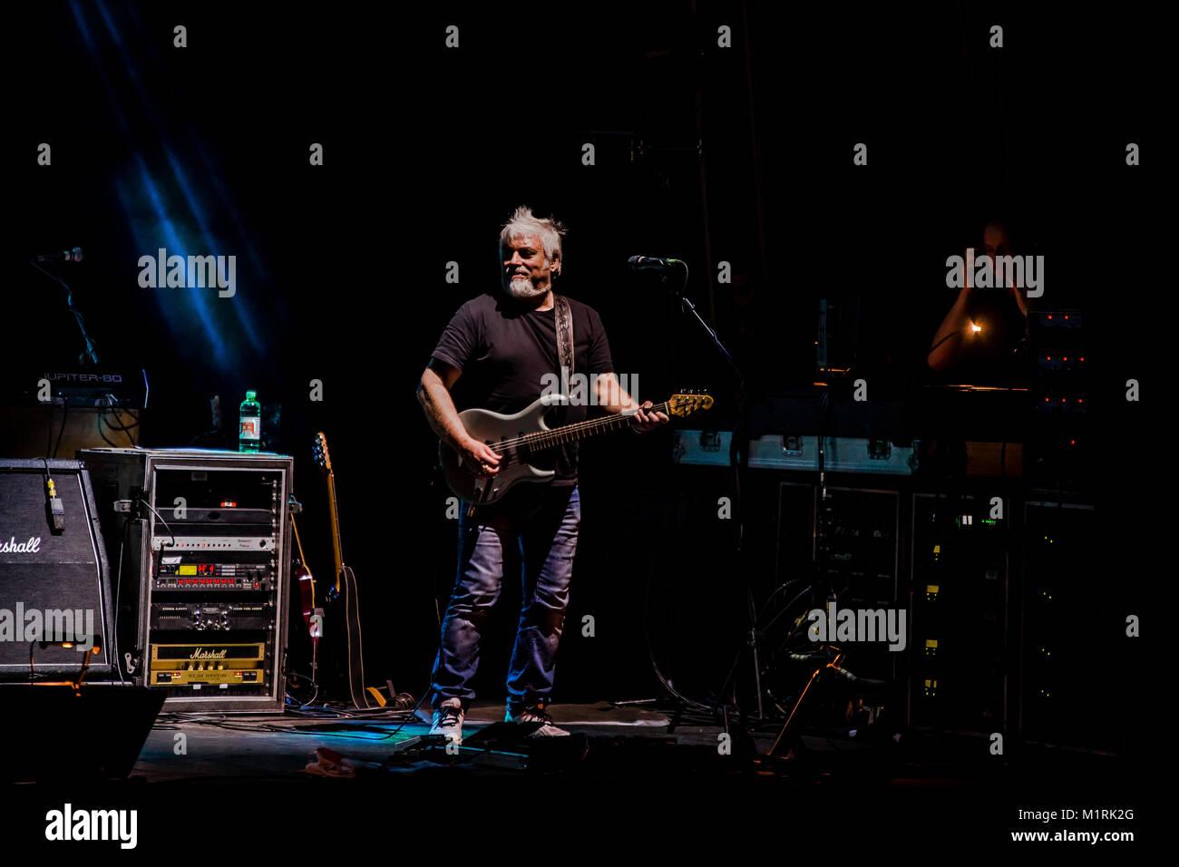Teatro Duse Bologna Italy The Italian Rock Band Nomadi Stock