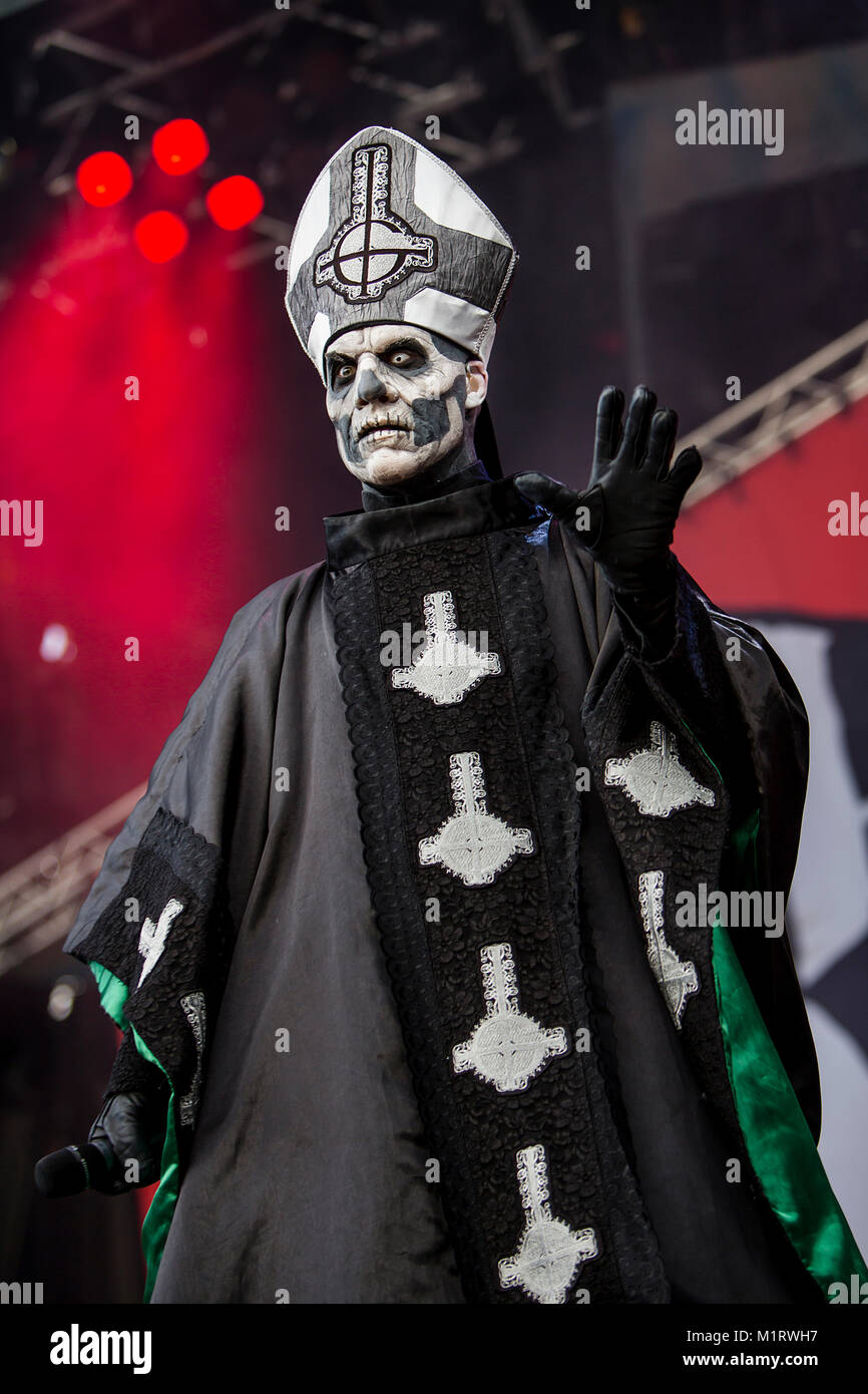 The Swedish Heavy Metal Band Ghost Performs A Live Concert At Koengen Stock Photo Alamy