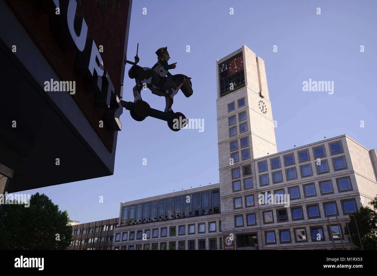Rathaus, Cityhall, Townhall, Stuttgart, Baden-Württemberg, Deutschland, Europa Stock Photo