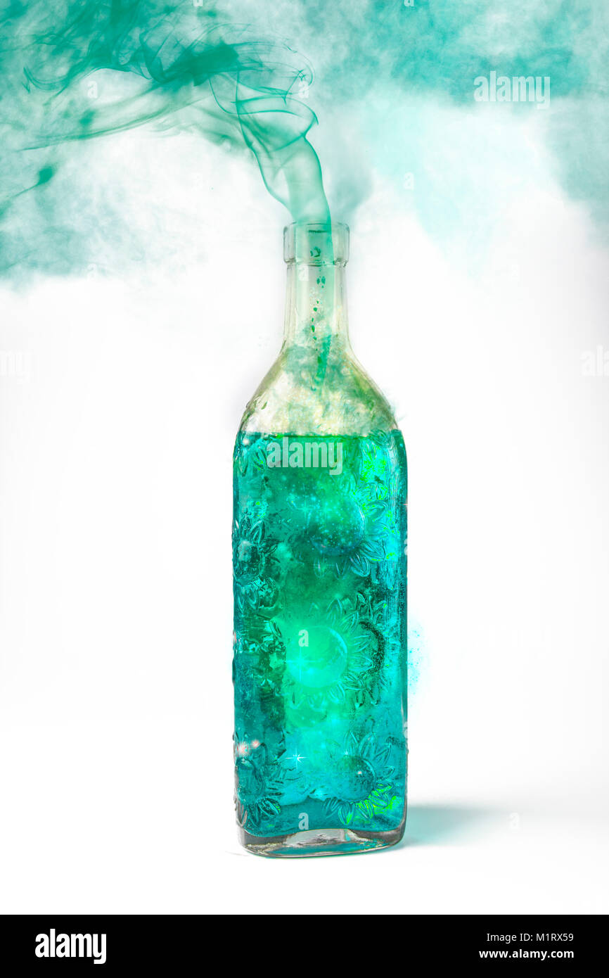 Green magic wizards potion - Stock Image