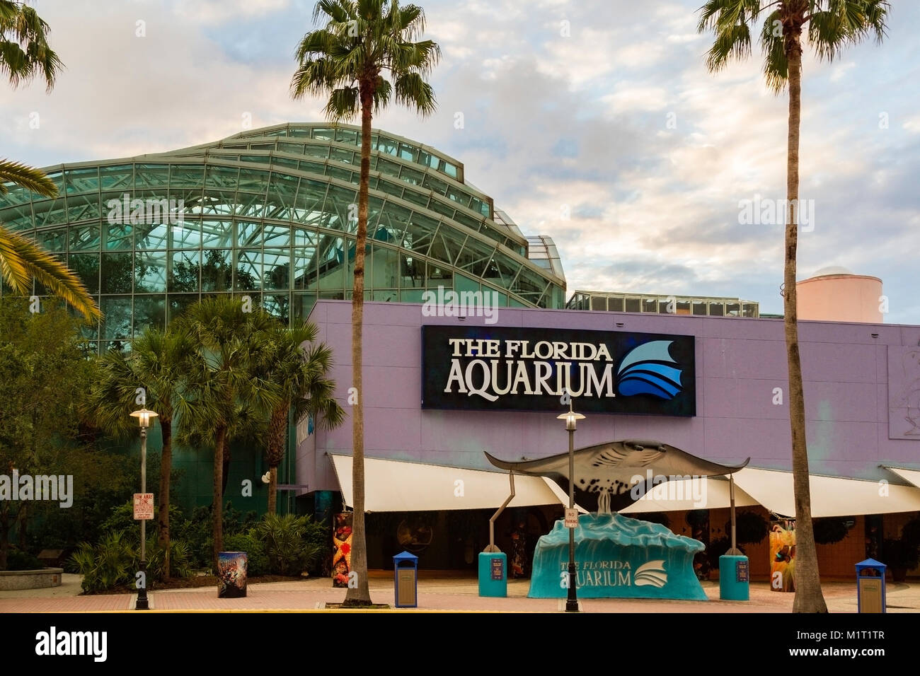 The Florida Aquarium is a 501(c)(3) not-for-profit organization whose mission is to entertain, educate and inspire - Stock Image