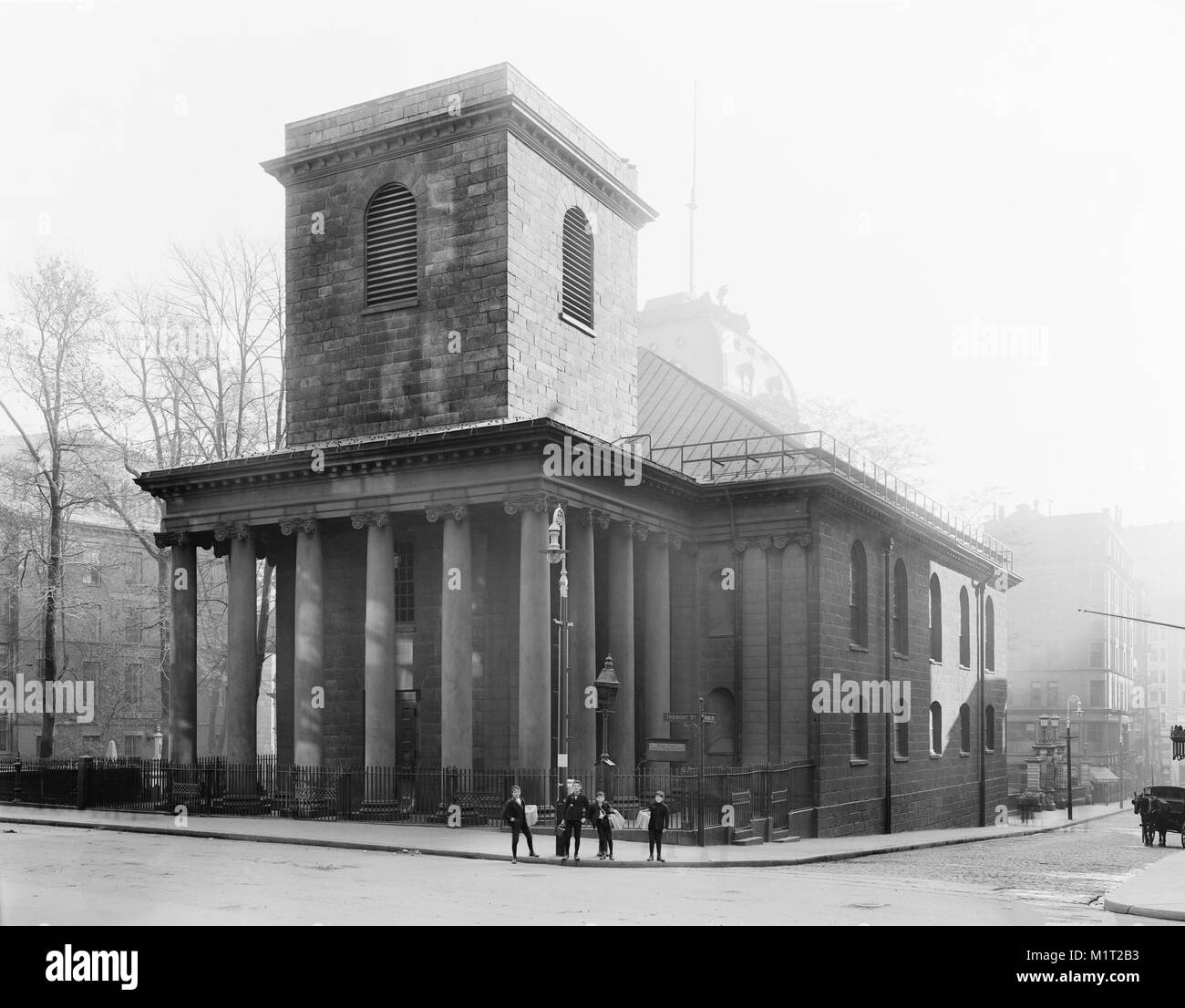 King's Chapel, Boston, Massachusetts, USA, Detroit Publishing Company, early 1900's - Stock Image
