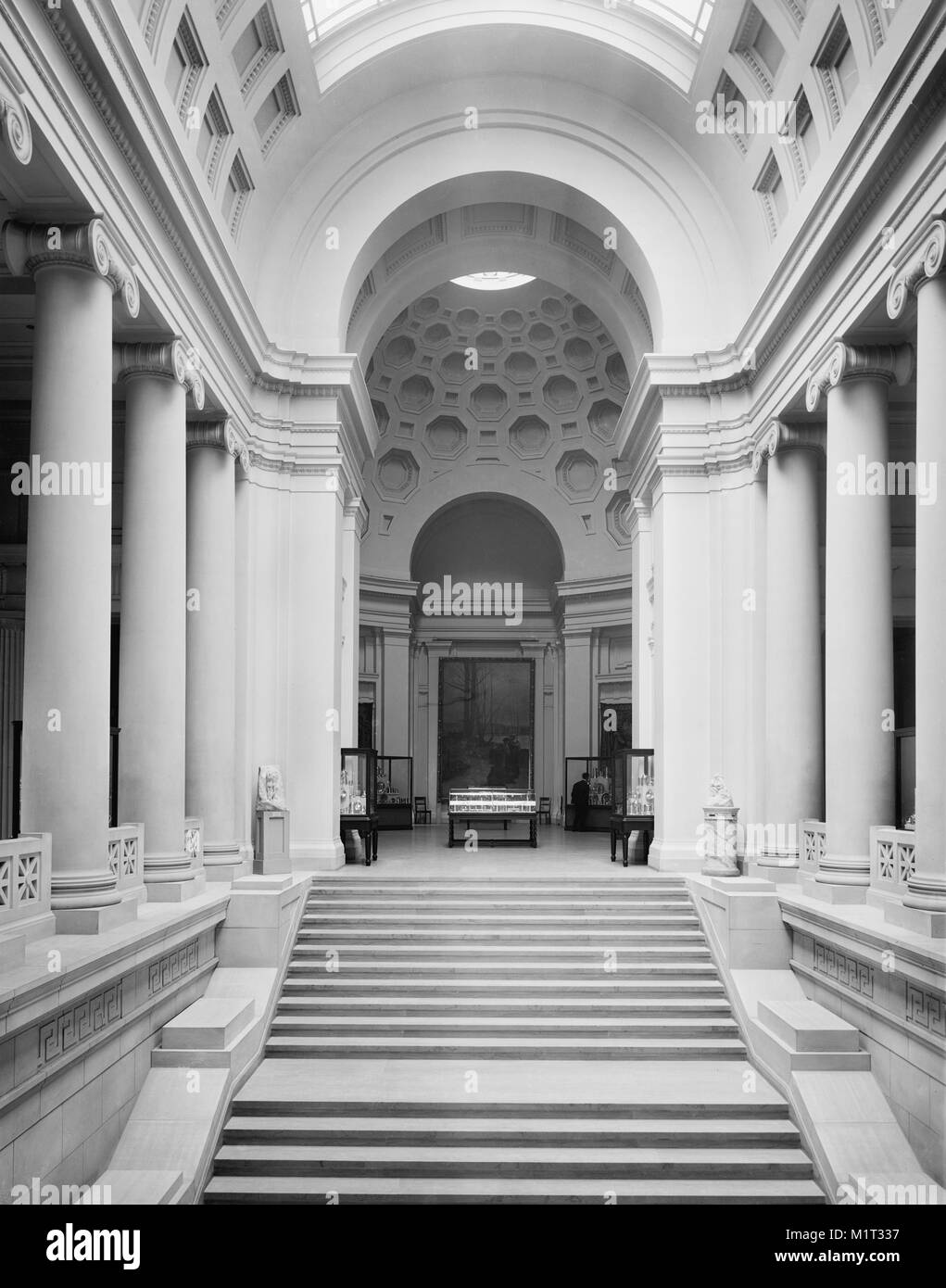 Stairway and Rotunda, Museum of Fine Arts, Boston, Massachusetts, USA, Detroit Publishing Company, early 1910's - Stock Image