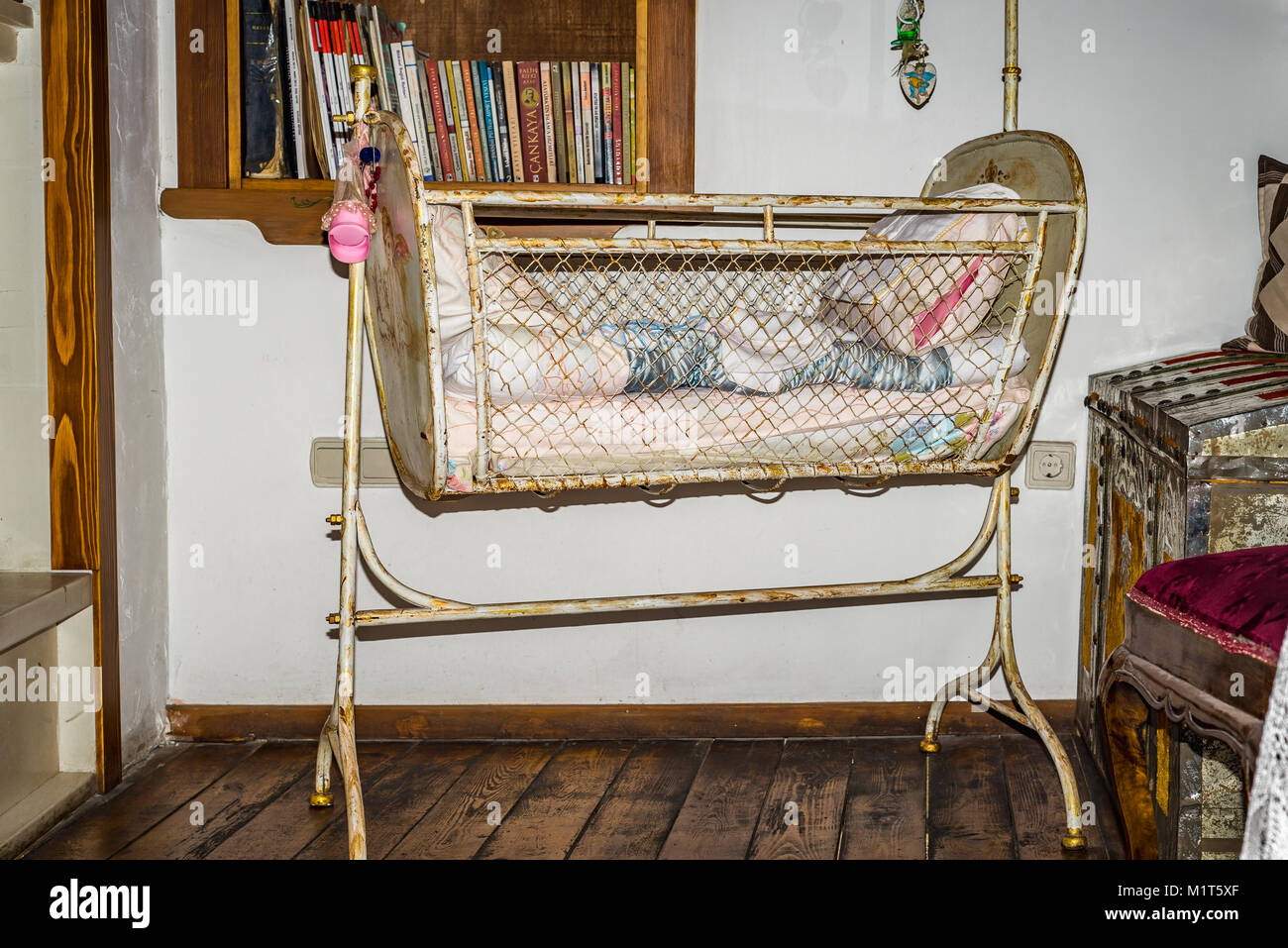 crib mahogany canopy baby antique wooden cribs designs beds