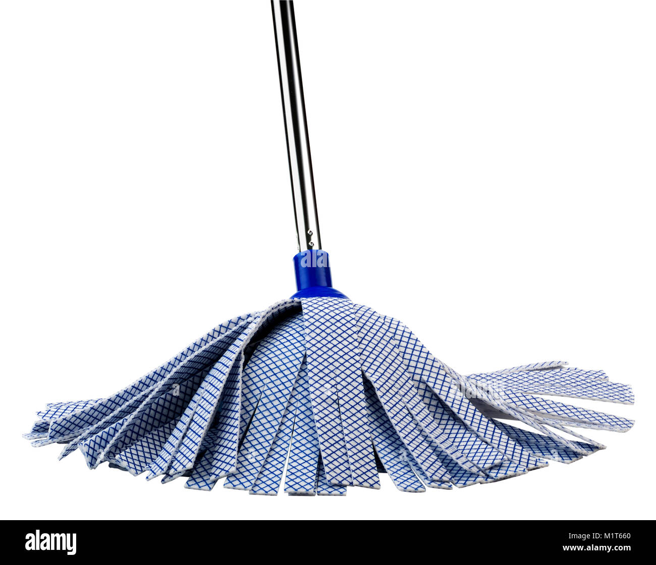 Blue Fiber Mop(+clipping path) - Stock Image