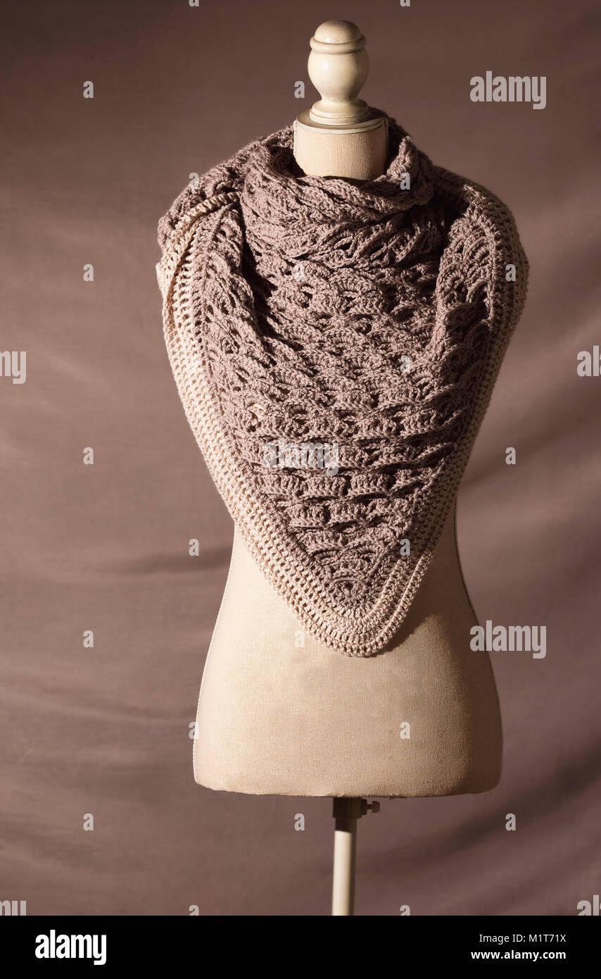 A handcraft woolen shawl - Stock Image