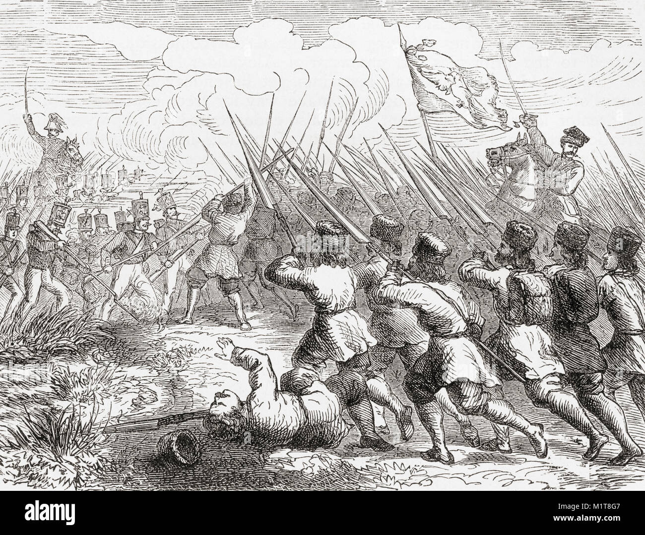 Polish peasant insurgents in the January Uprising of 1863.  The uprising began as a spontaneous protest by young - Stock Image