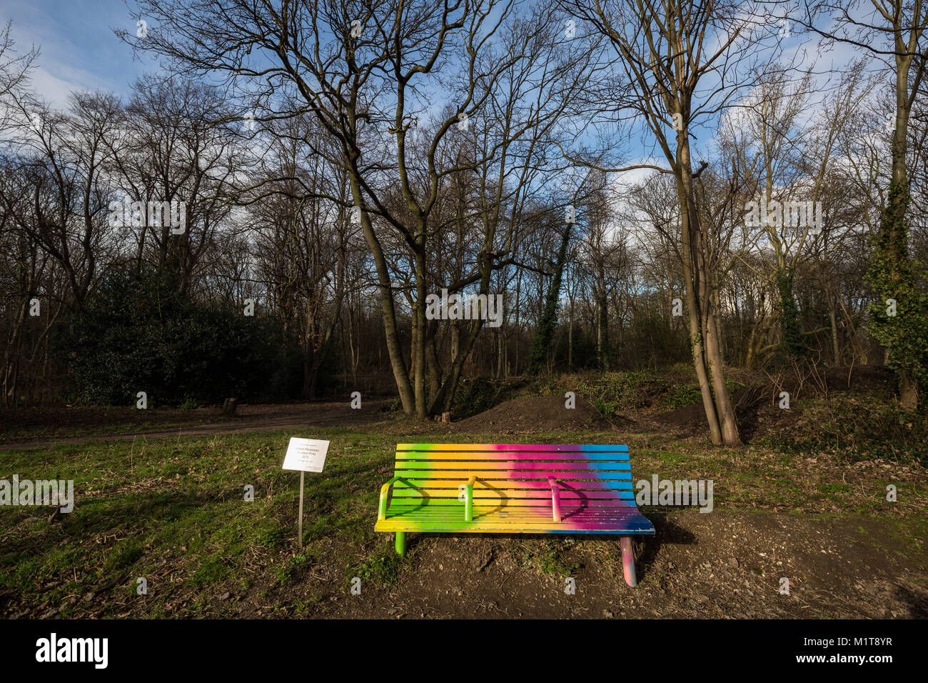 'Gradient Fade' by Adham Faramawy. Tower Hamlets Cemetery Park, East London, UK. - Stock Image