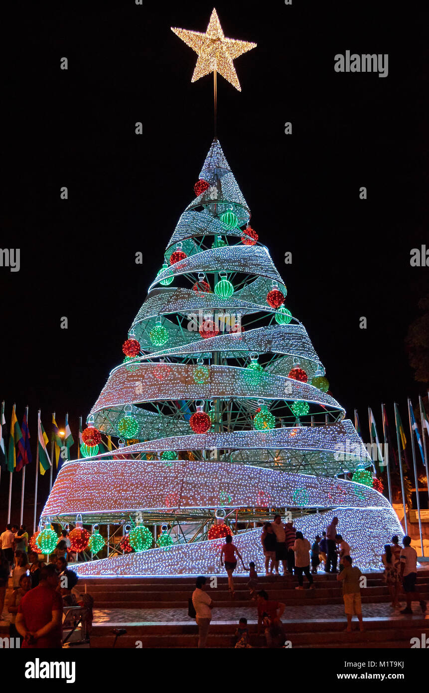 Christmas In Colombia.Villavicencio Colombia January 1 2015 A Big Christmas