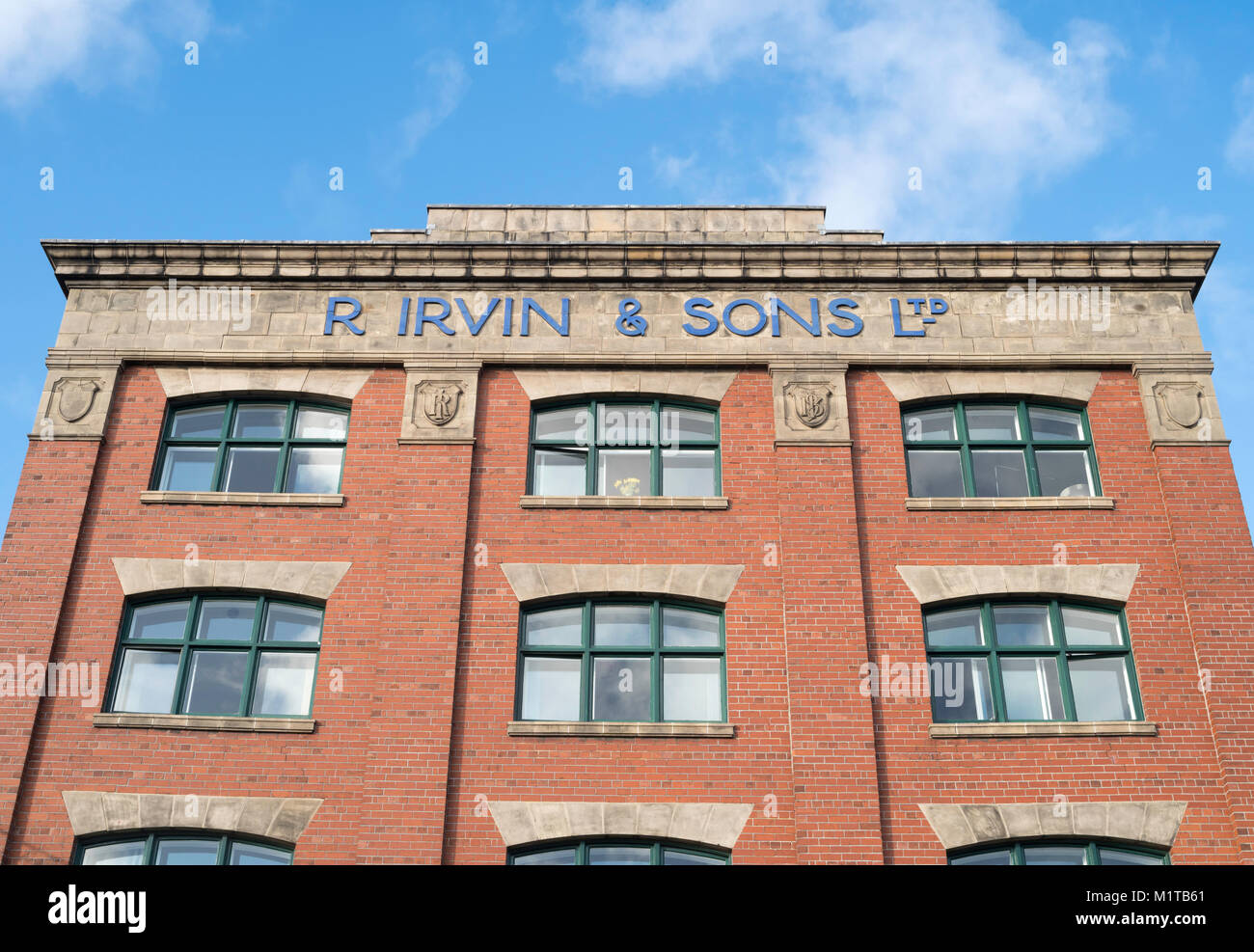 The grade II listed Irvin office building , now apartments, in North Shields, north east England, UK - Stock Image