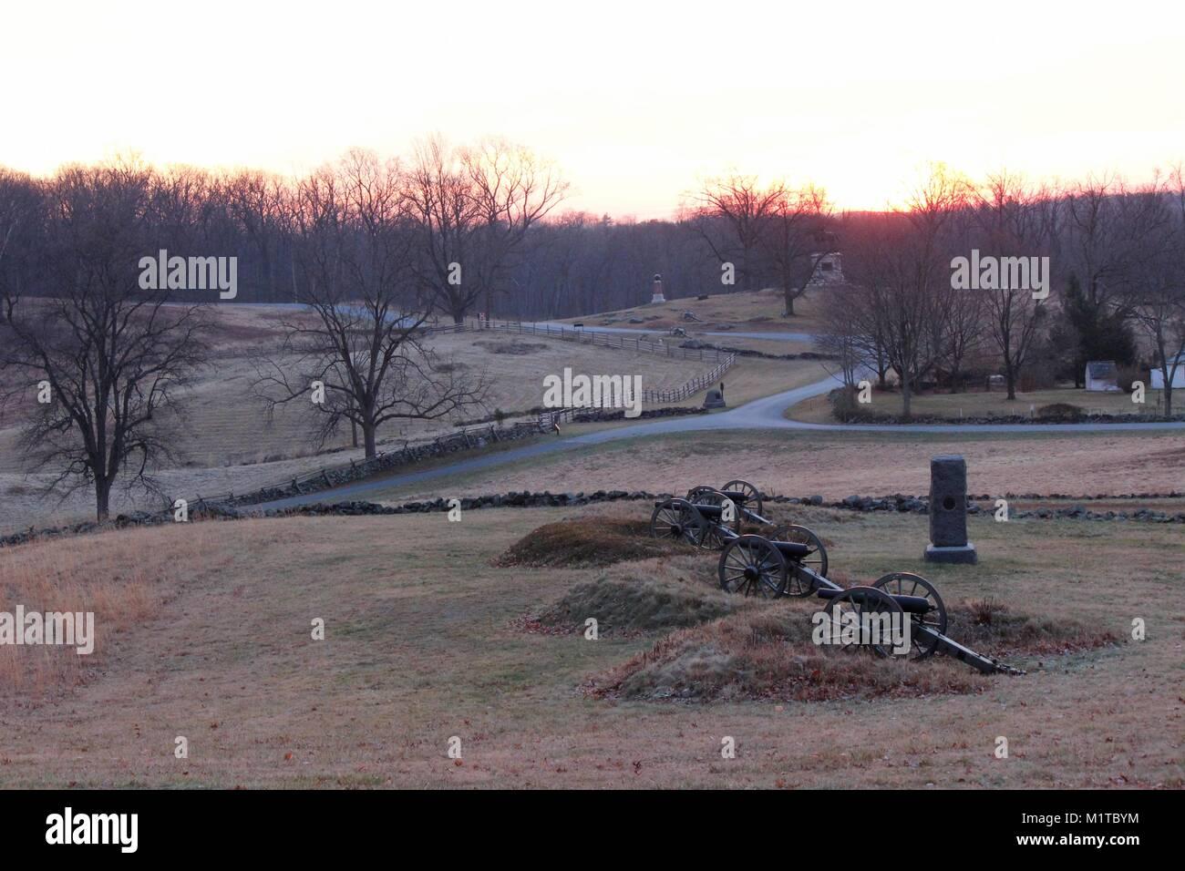 East Cemetery Hill, Gettysburg Stock Photo