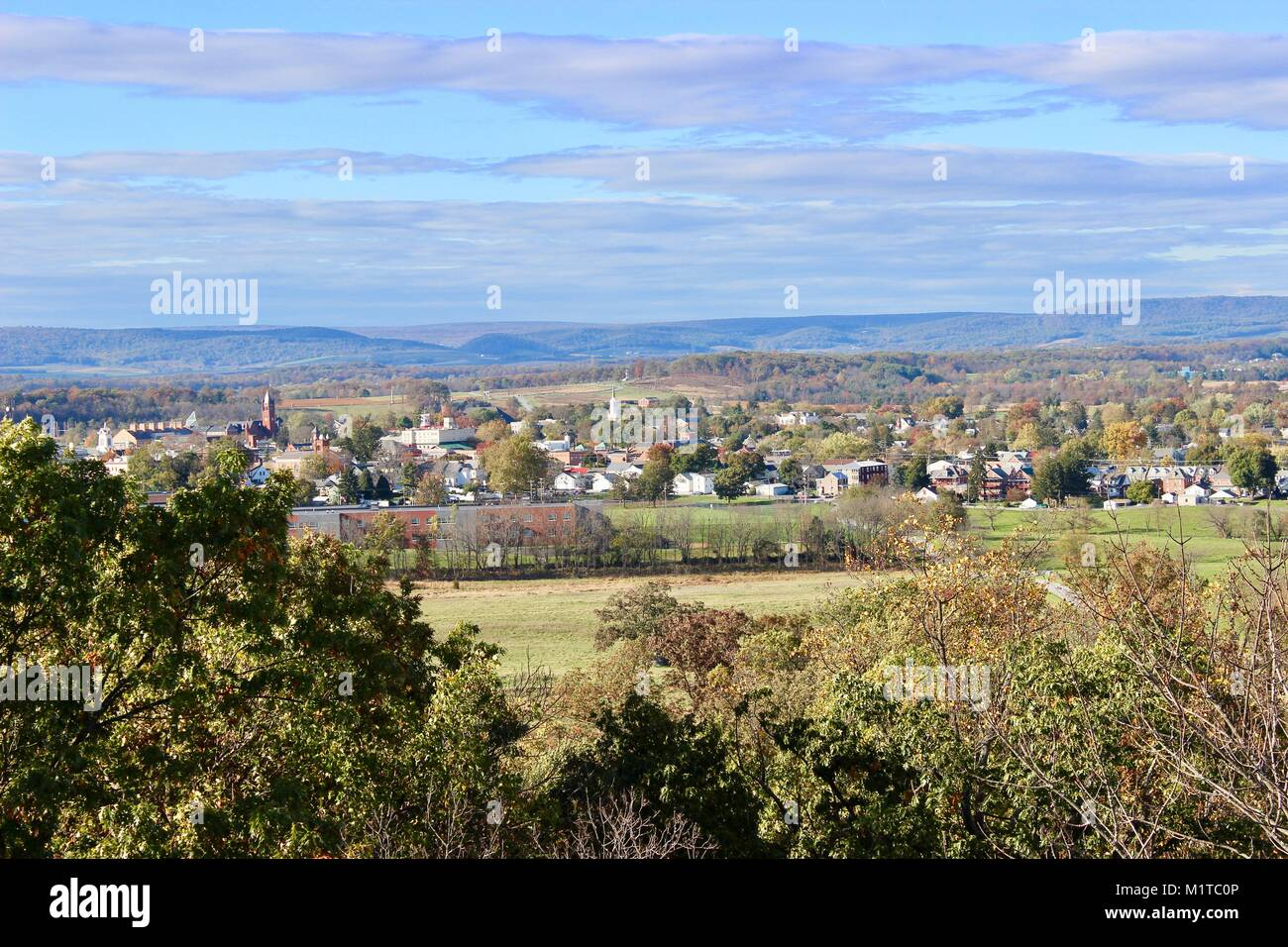 Gettysburg from Culp's Hill tower Stock Photo