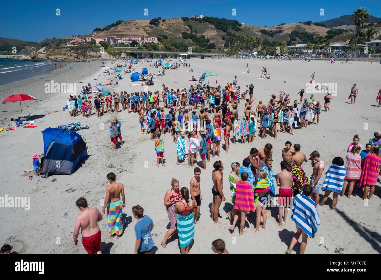e7d872a69a Beach Lifeguard Training Stock Photos   Beach Lifeguard Training ...