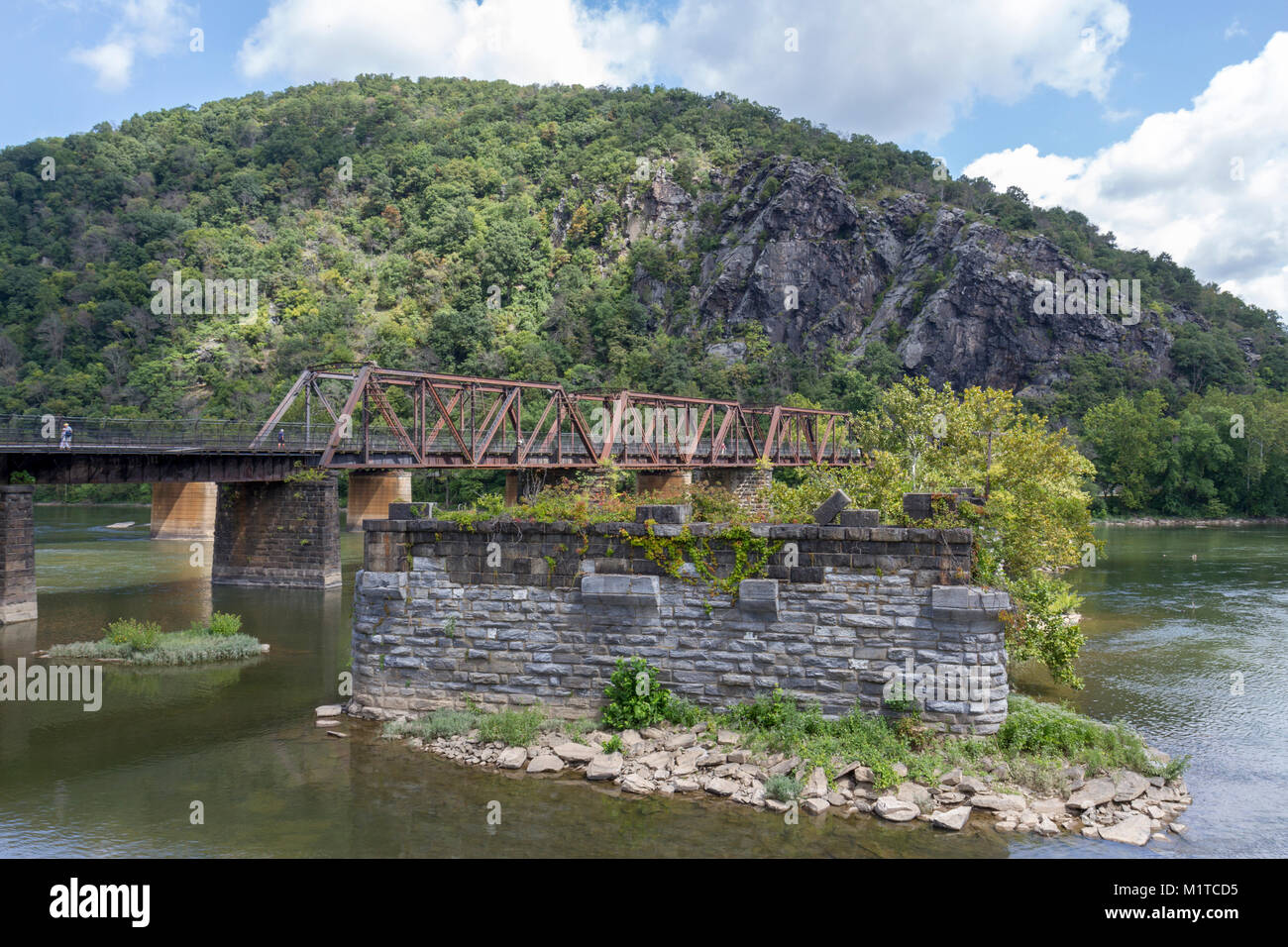 The Baltimore & Ohio Railroad Crossing, Potomac River, West Virginia, United States. - Stock Image