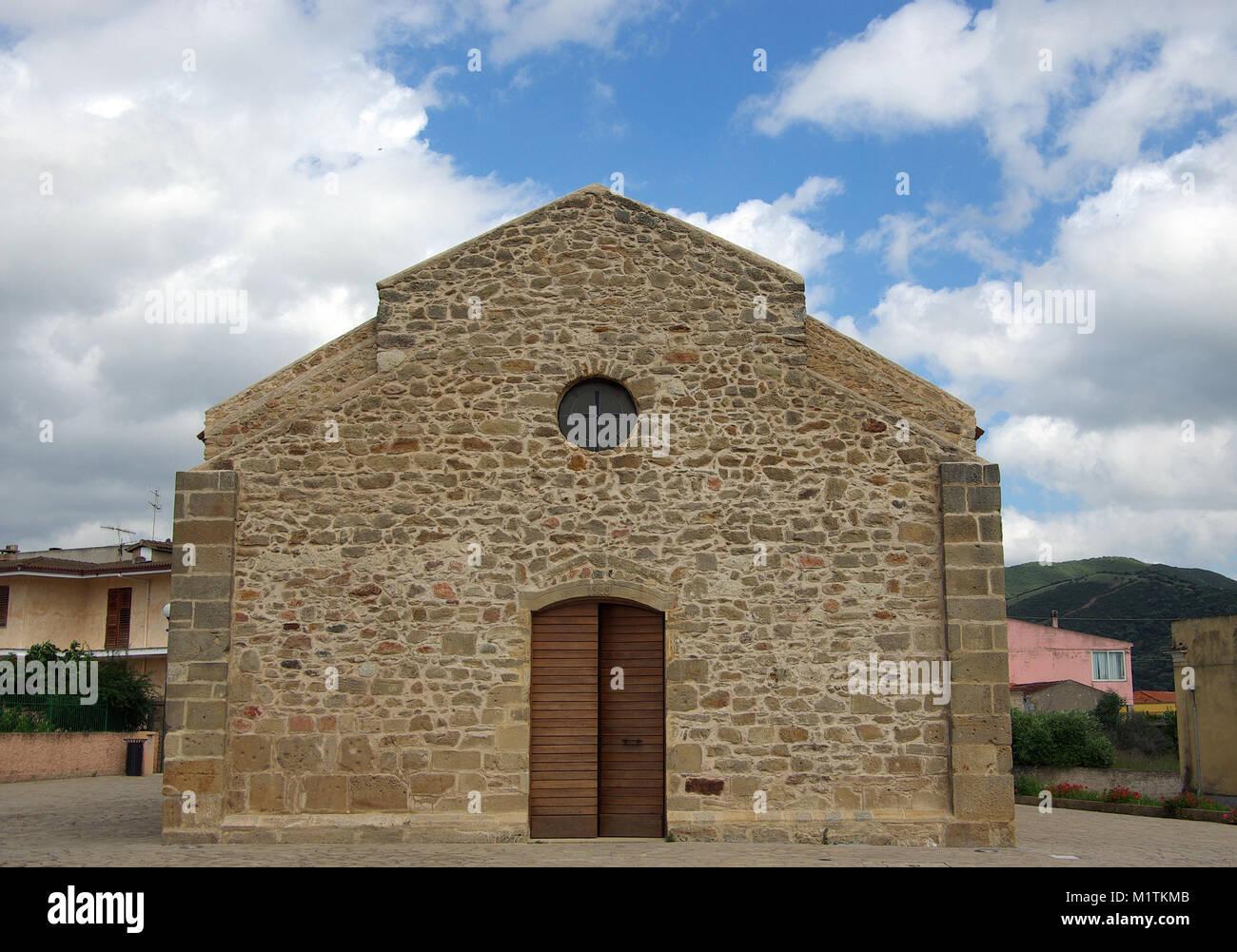 Viddalba, Sardinia. St.John romanesque church XI century - Stock Image