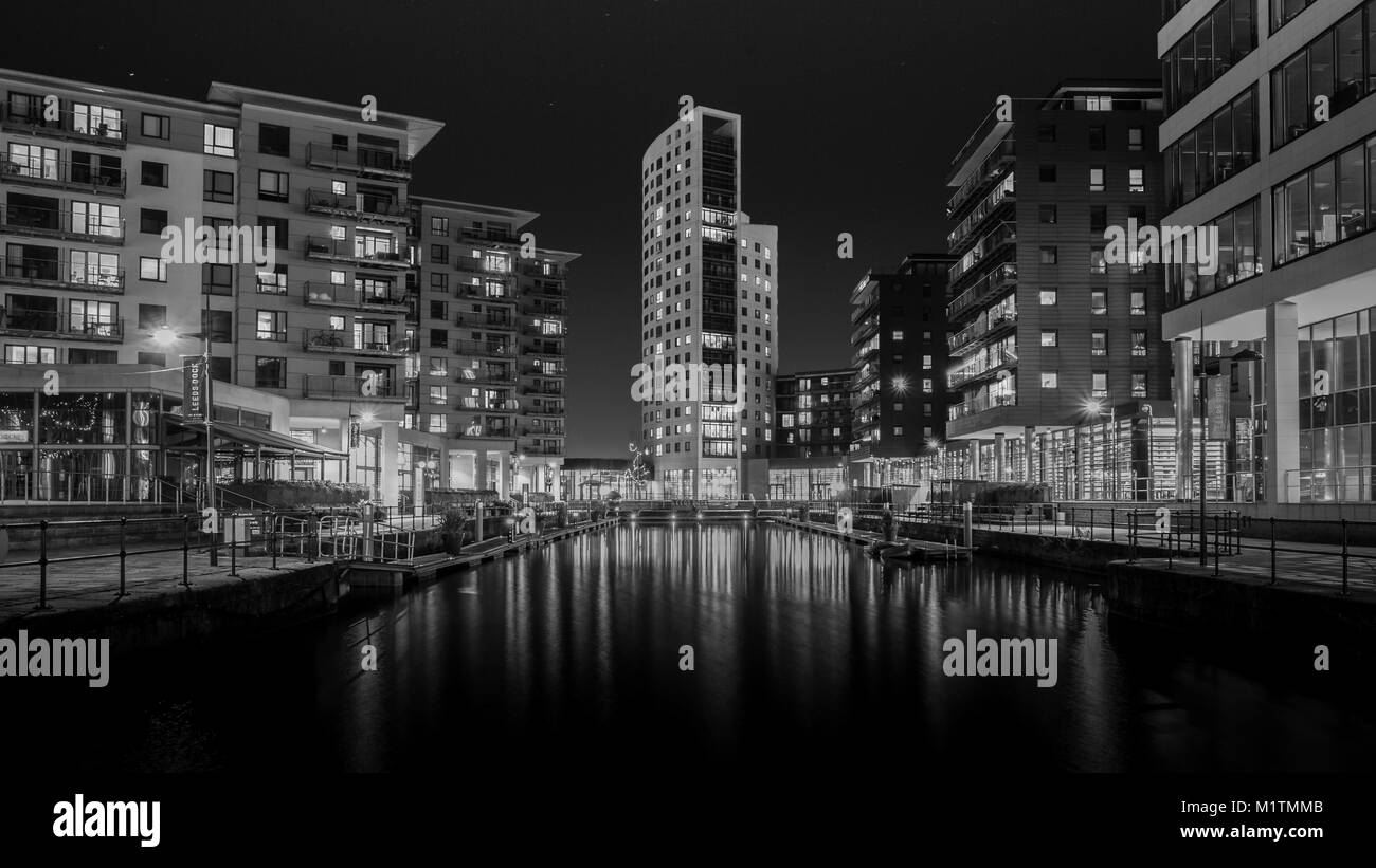 Clarence Dock / Leeds Dock, Leeds, West Yorkshire, UK - Stock Image
