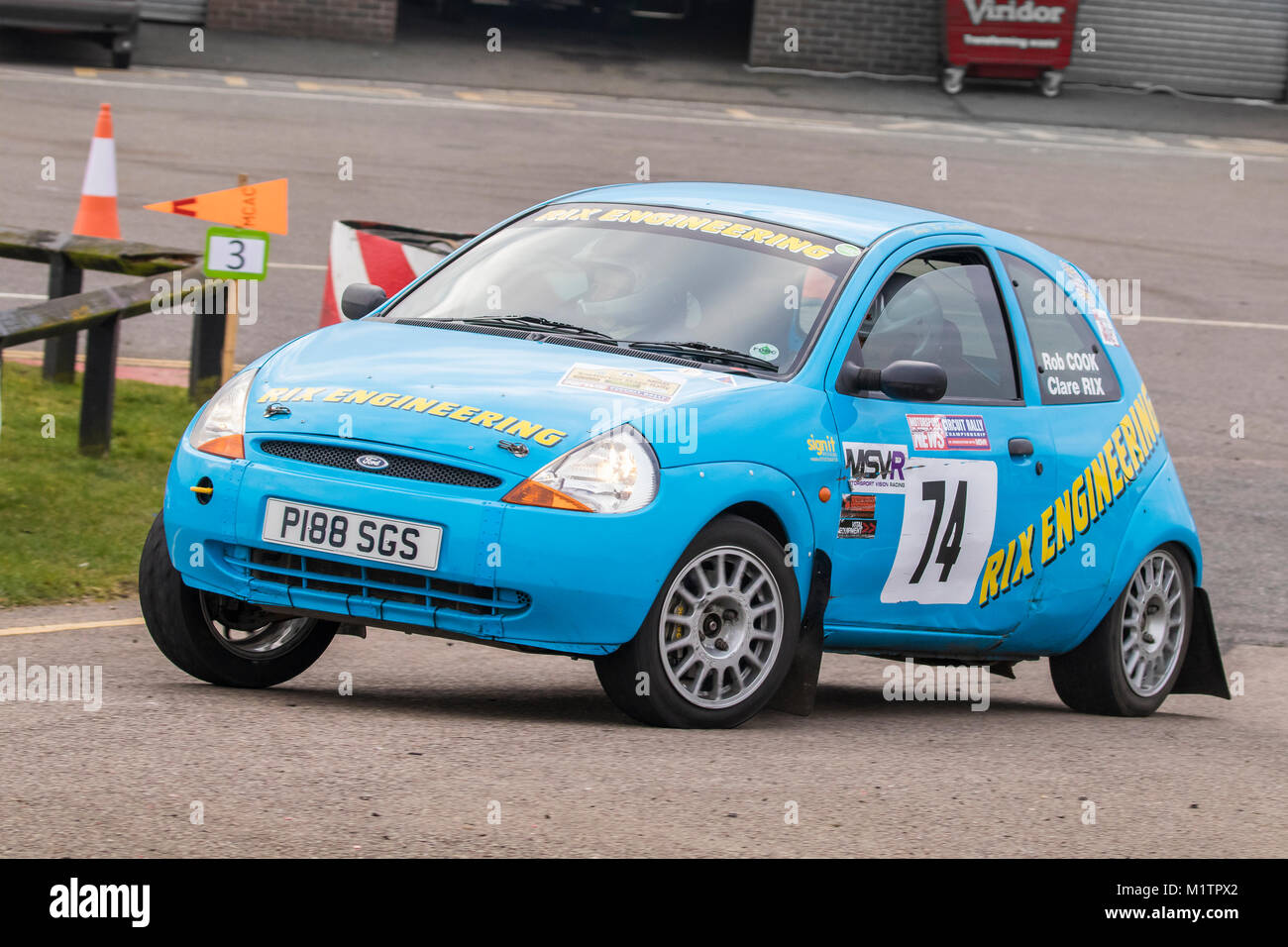 Ford Ka  With Driver Clare Rix And Co Driver Rob Cook At The Motorsport