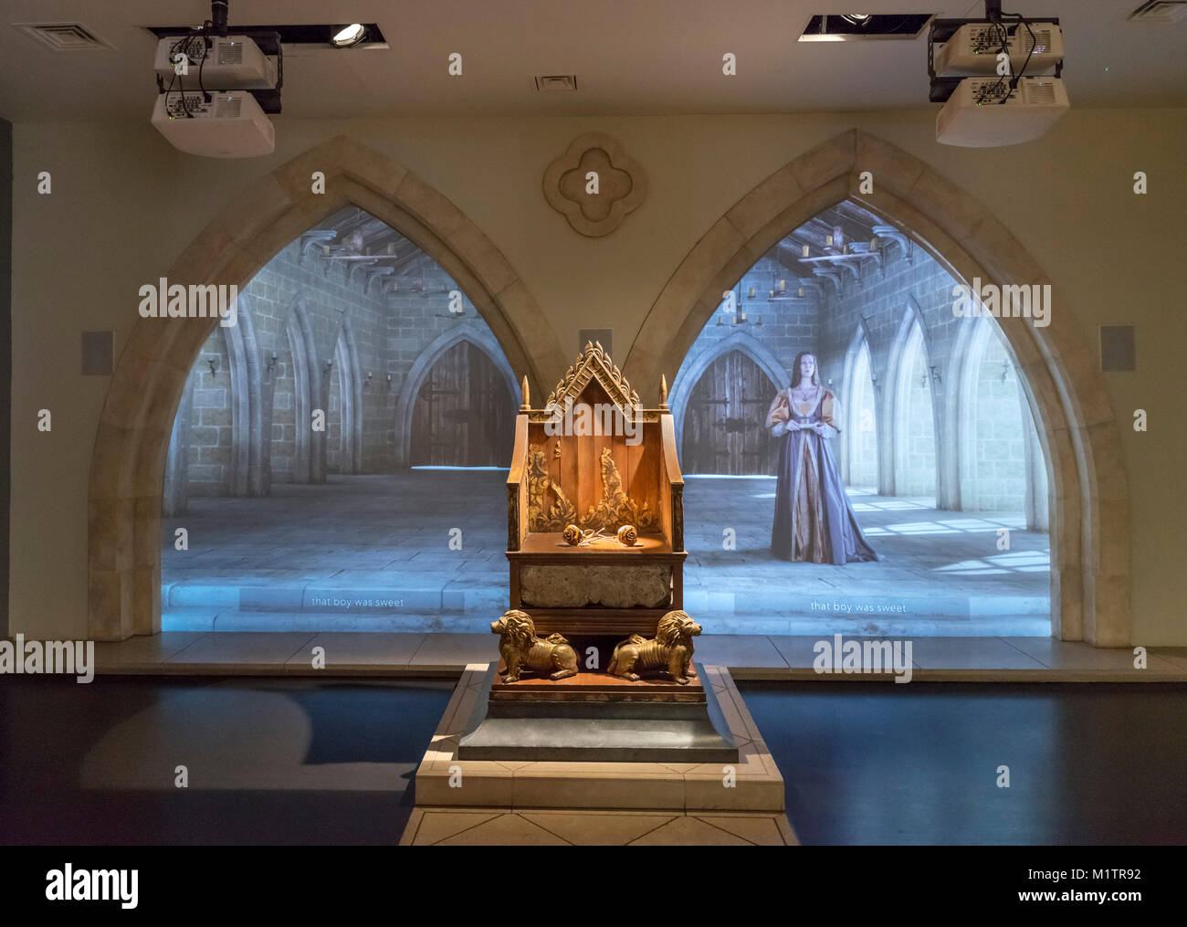 Display in the King Richard III Visitor Centre, Leicester, England, UK - Stock Image
