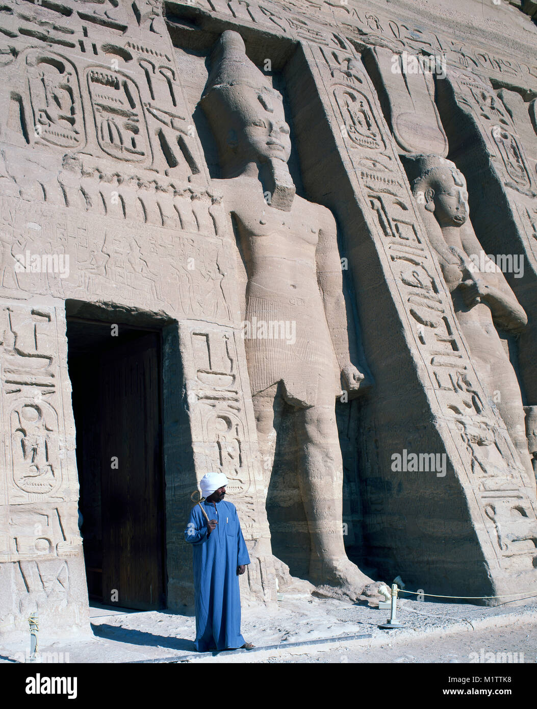 The Great Temple of Rameses 11 at Abu Simbel, Nubia, Upper Egypt. - Stock Image