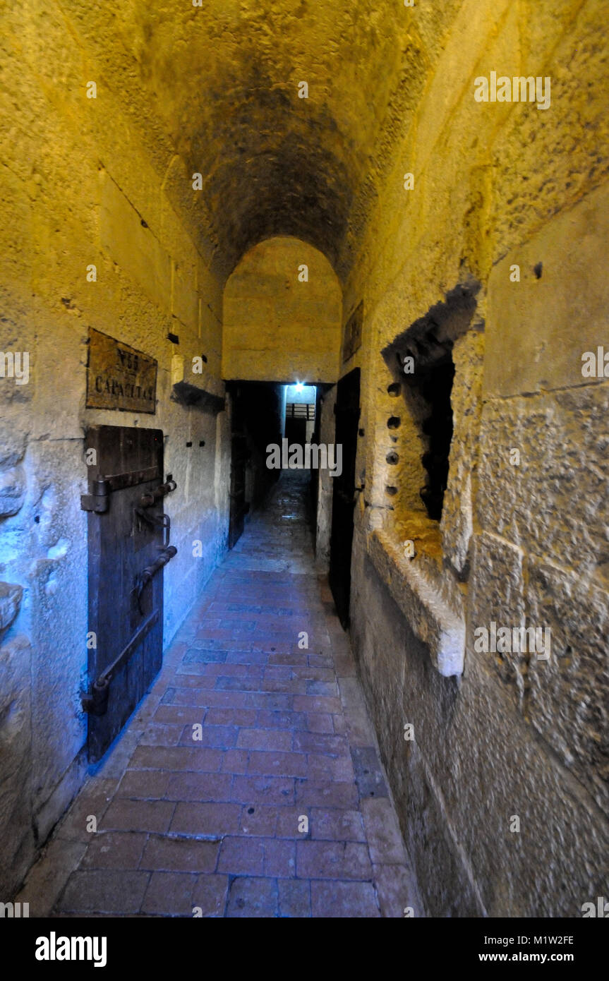 The prisons next to the Doge's Palace, Venice, Italy - Stock Image