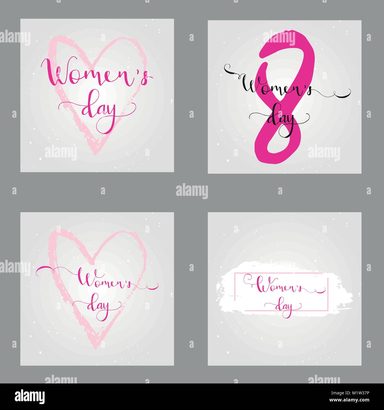 Collection Of 4 Greeting Cards International Happy Womens Day 8