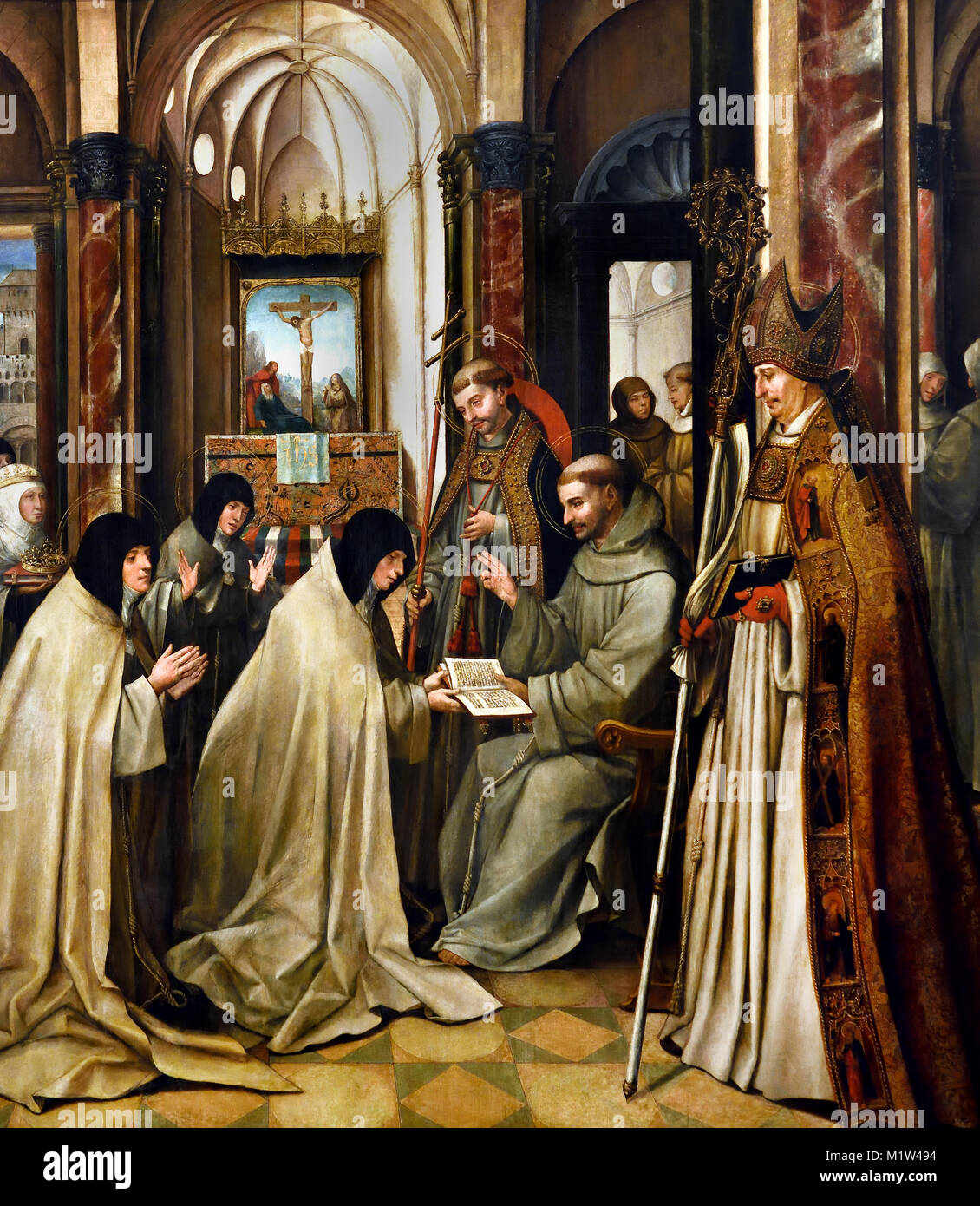 The Profession of St Claire 1515 Jorge Alfonso 1504-1540 16th-century ,Portugal, Portuguese, - Stock Image