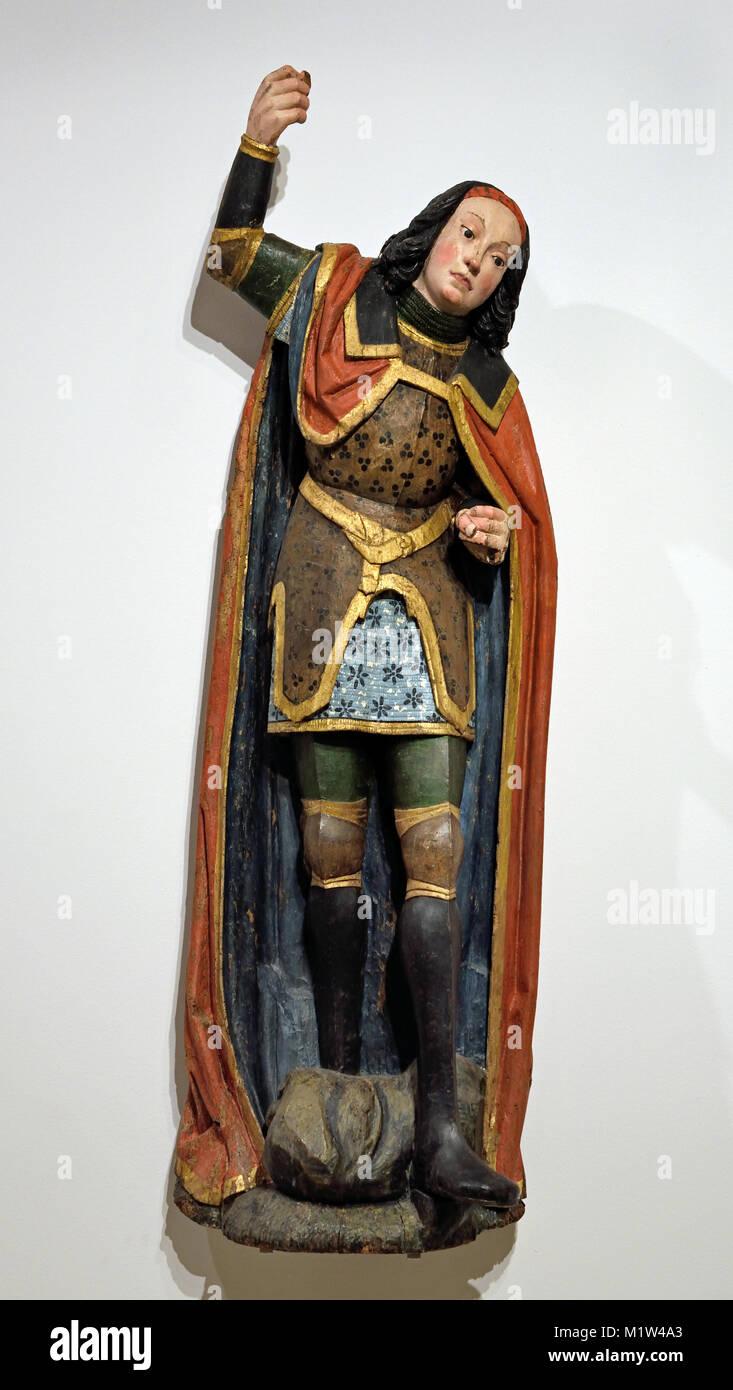 St George, 1475-1500, Germany , German Rhineland Workshop - Stock Image