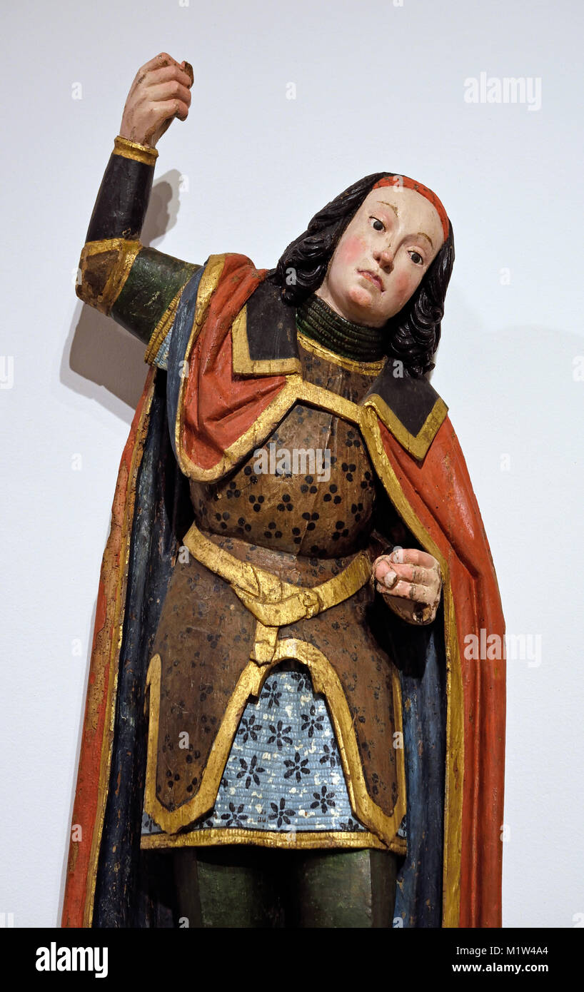 St George, 1475-1500, Germany , German Rhineland Workshop Stock Photo