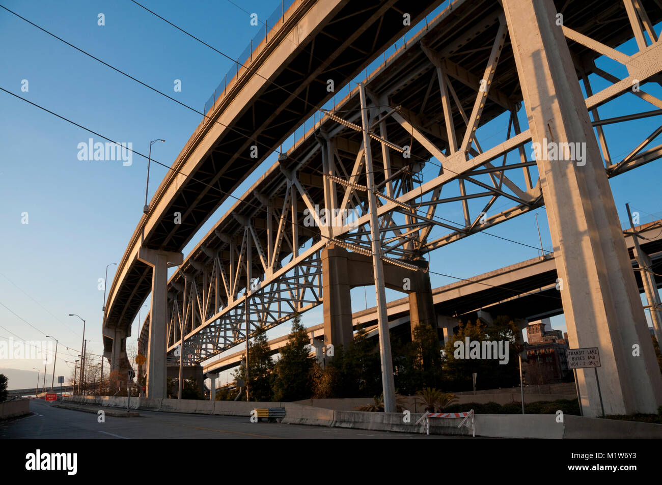 Urban bridge trusses - Stock Image