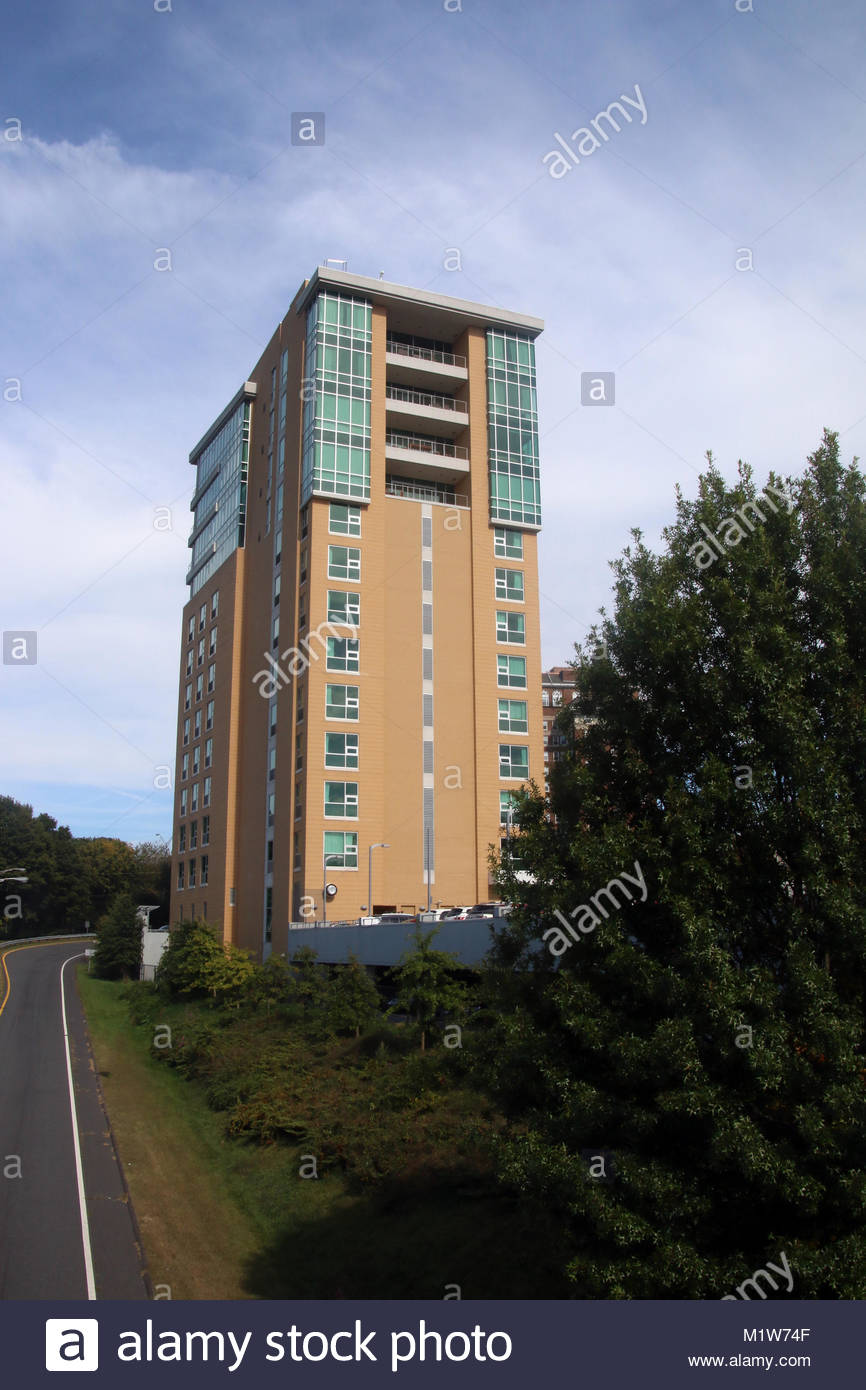 High Rise Building in Asheville, North Carolina Stock Photo