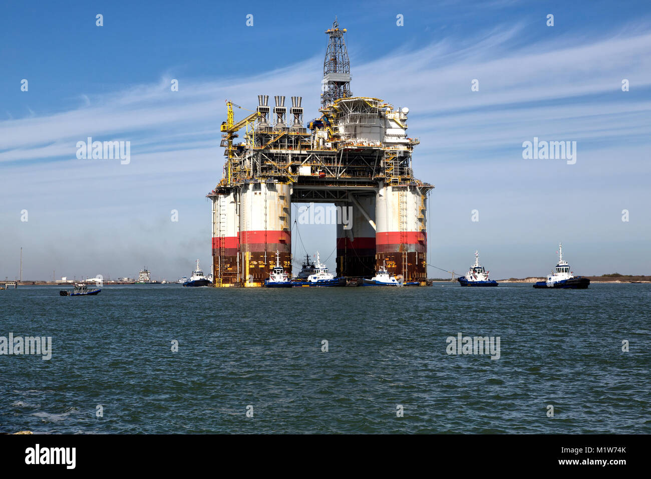 'Big Foot'  Chevron's Offshore Deep Ocean Platform, oil & natural gas platform drill rig. - Stock Image