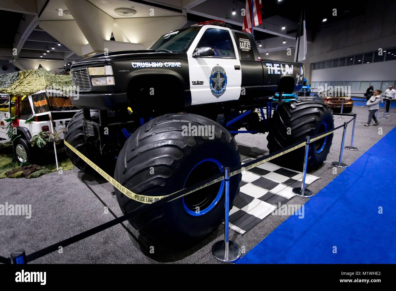 Police Monster Truck At The San Diego International Auto Show In - San diego international car show
