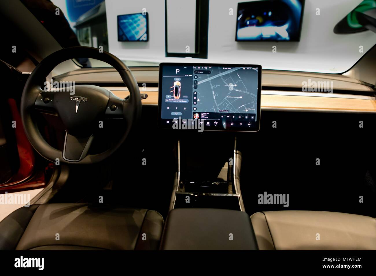 tesla car dashboard stock photos tesla car dashboard stock images