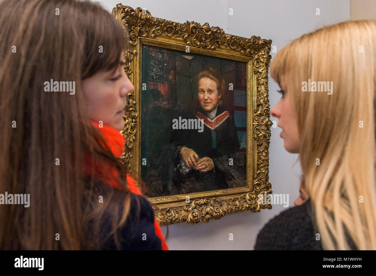 London, UK. 2nd Feb, 2018. Millicent Fawcett by Annie Swynnerton, newly on display at Tate Britain.  Fawcett was - Stock Image